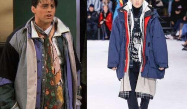 Abrigo de Balenciaga inspirado en Joey de 'Friends'