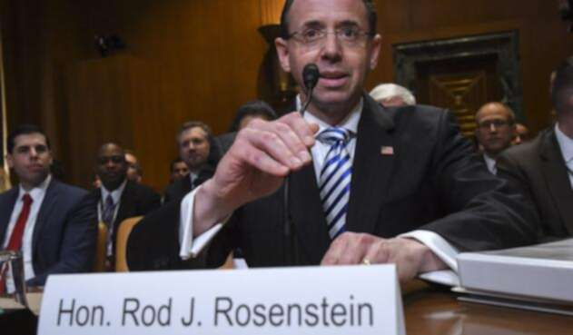 El vicefiscal general de EE.UU., Rod Rosenstein.