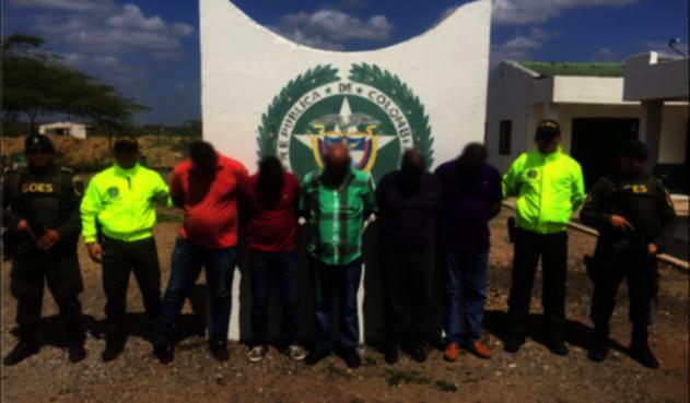 Los capturados de la red de tráfico de armas.