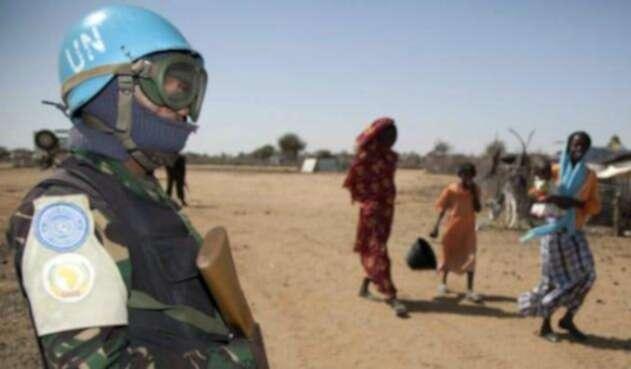 Cascos Azules de la ONU.