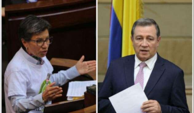 Claudia López y Ernesto Macías, enfrentados desde el Congreso.