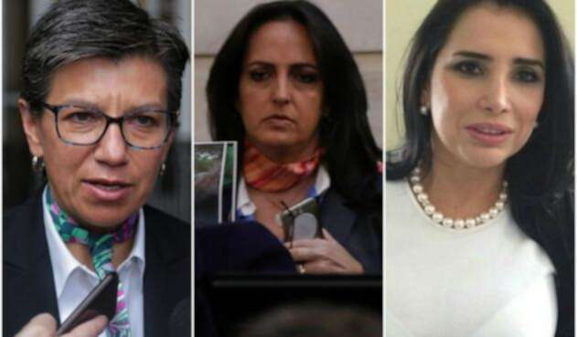 Claudia López, exsenadora; María Fernanda Cabal, senadora; y Aida Merlano, exsenadora