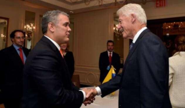 Reunión Duque y Clinton