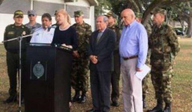 En consejo de seguridad, ministro de Defensa analizó situación de violencia en el Valle