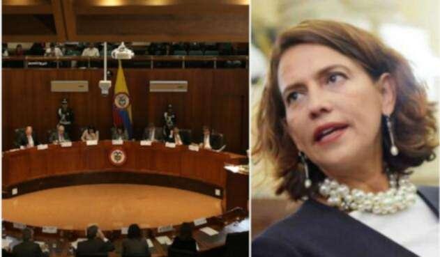 Nancy Patricia Gutiérrez arreció sus críticas contra la Corte Constitucional