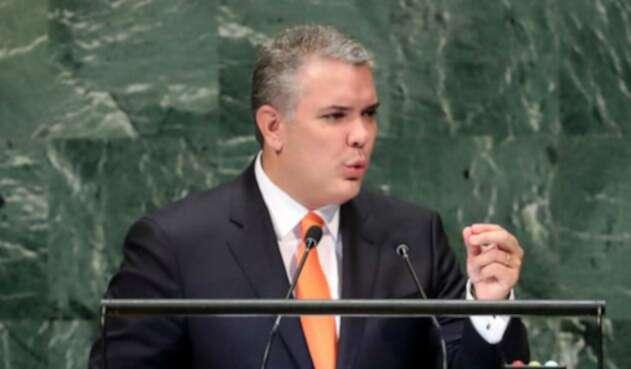 Iván Duque en su primera discurso ante la Asamblea de la ONU.