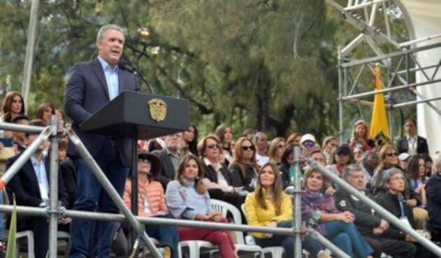 Presidente Duque inaugura evento social