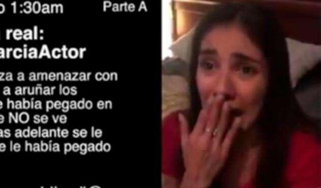 Eileen Moreno, en el video publicado por Alejandro García