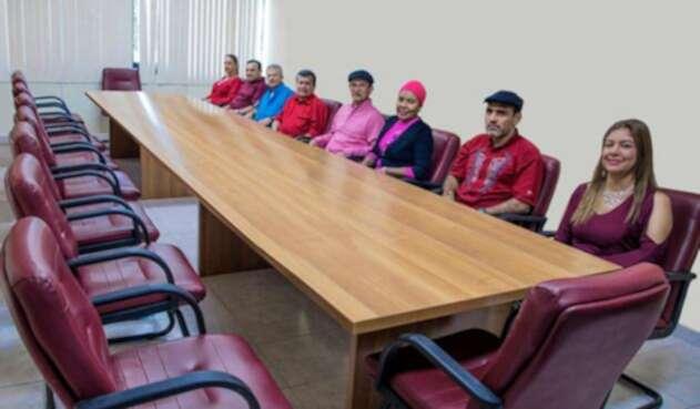 La delegación del ELN en Cuba