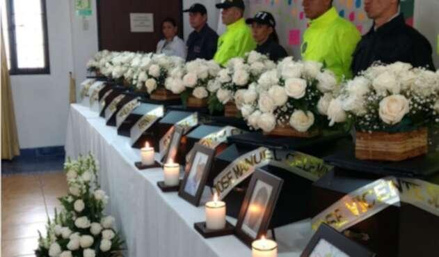 Restos óseos de víctimas del conflicto armado.