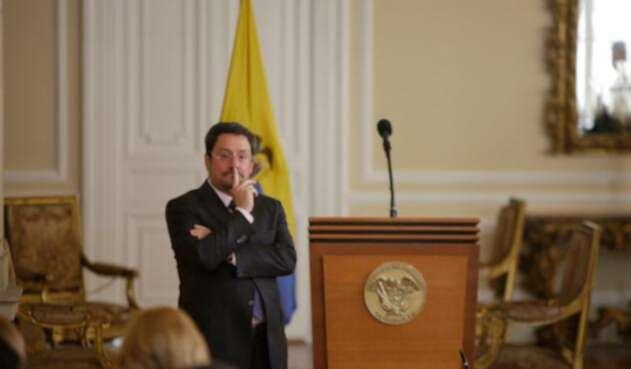 Francisco Santos, embajador de Colombia en Estados Unidos, en la Casa de Nariño