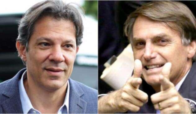 Haddad y Bolsonaro candidatos Brasil