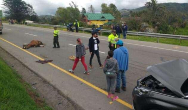 Actores de la Ley del Corazón protagonizan accidente detrantránen Boyacá.