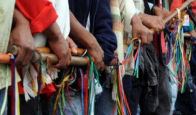 Comunidad indígena reunida