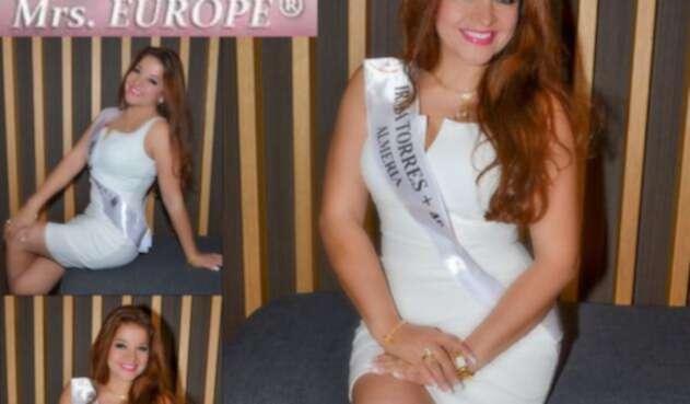 Irma Torres Pérez, una de las participantes del reinado Señora Europa 2018