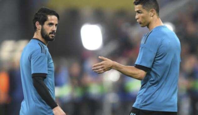 Isco y Cristiano como jugadores del Real Madrid