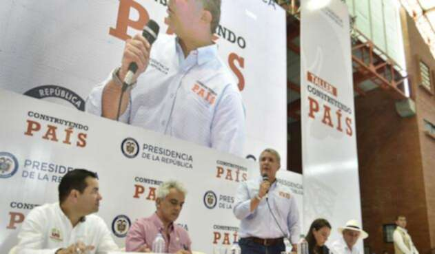 El presidente Iván Duque en Socorro (Santander)
