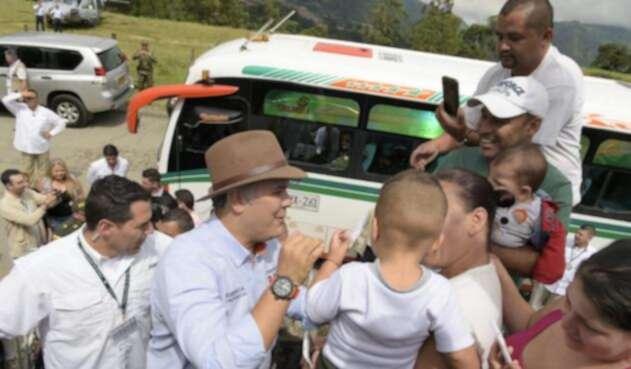 Iván Duque, en Amagá, Antioquia