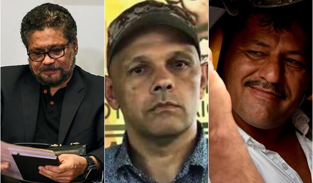 Luciano Marín Arango, alias Iván Márquez; Hernán Darío Velásquez, alias El Paisa, y Henry Castellanos Garzón, alias Romaña
