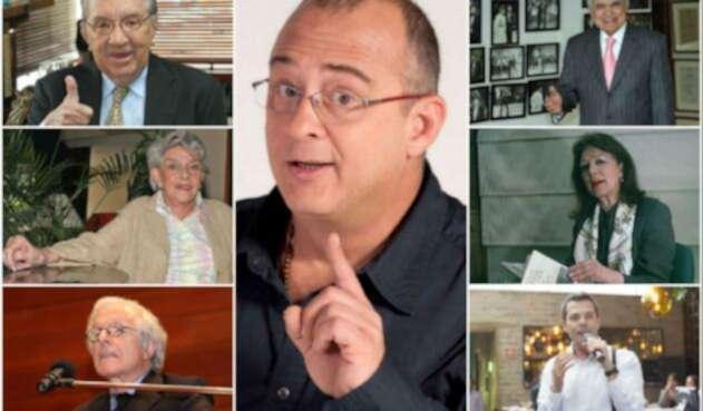 Jota Mario Valencia y los grandes presentadores de la televisión colombiana en varias décadas