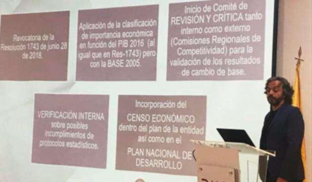 Juan Daniel Oviedo, director del Departamento Administrativo Nacional de Estadística, en Bogotá