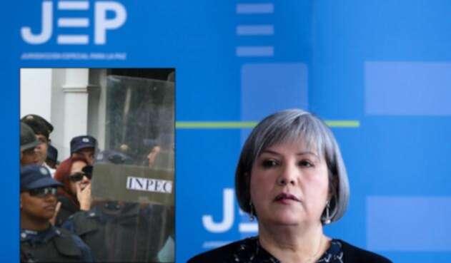Enilce López, La Gata (izq) y Patricia Linares, presidenta de la JEP (der)