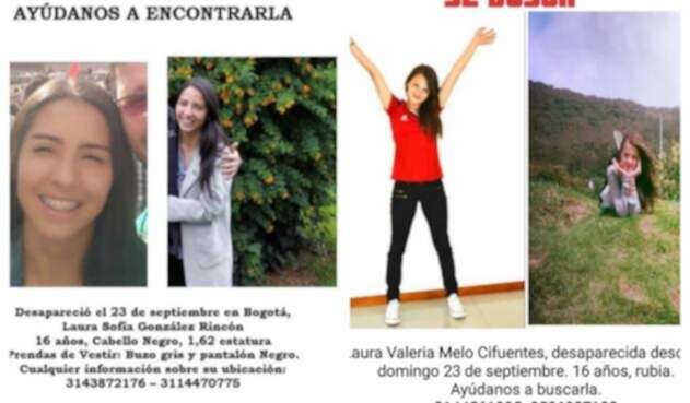 Laura Sofía González y Laura Valeria Melo, jóvenes desaparecidas