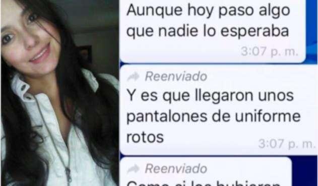 Laura Alejandra Flórez y los mensajes vía WhatsApp en conversación con su padre