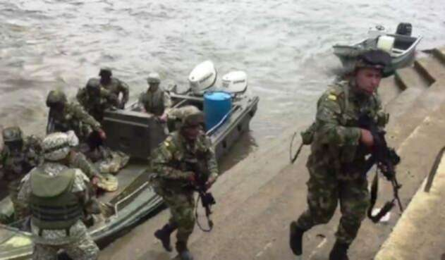 Llegada de tropas a El Charco