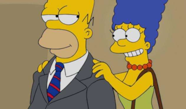 Homero y Marge Simpson