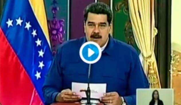 Nicolás Maduro, presidente de Venezuela, en el Palacio de Miraflores, en Caracas (Venezuela)