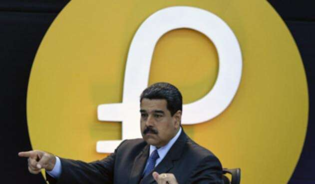 Nicolás Maduro en el día del anuncio del Petro