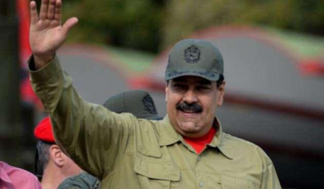 Nicolás Maduro en un desfile militar, el 13 de abril de 2018