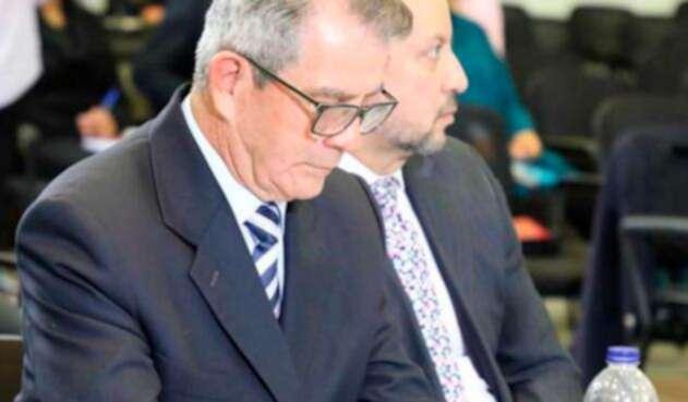 El general retirado Mario Montoya, en audiencia ante la JEP, en Bogotá