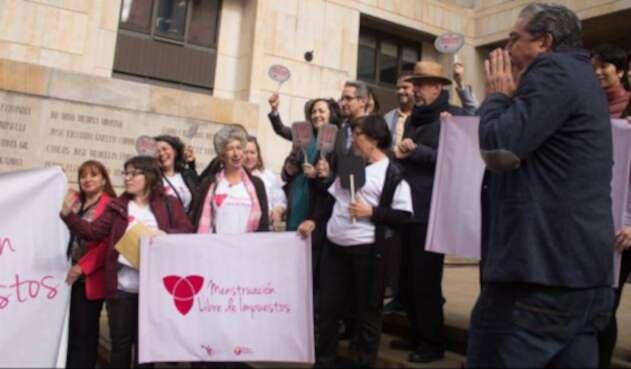 Campaña menstruación libre de impuestos