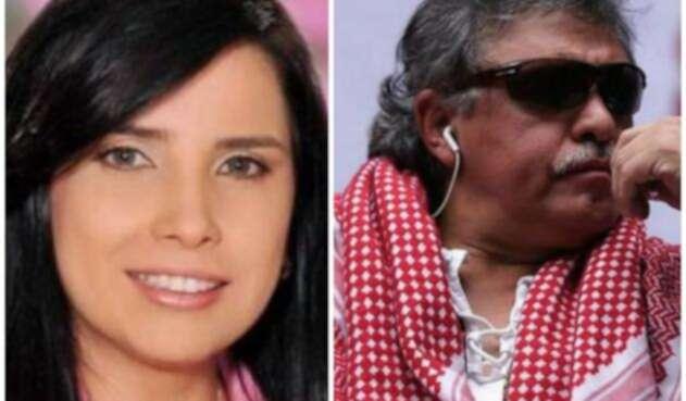 Aida Merlano y Jesús Santrich