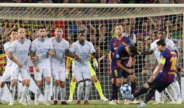 El primer gol de la Champions 18-19, obra de arte de Messi
