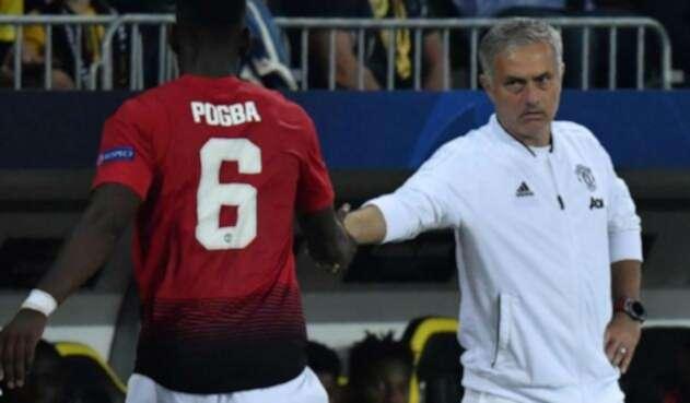 Pogba y Mourinho no se llevan muy bien