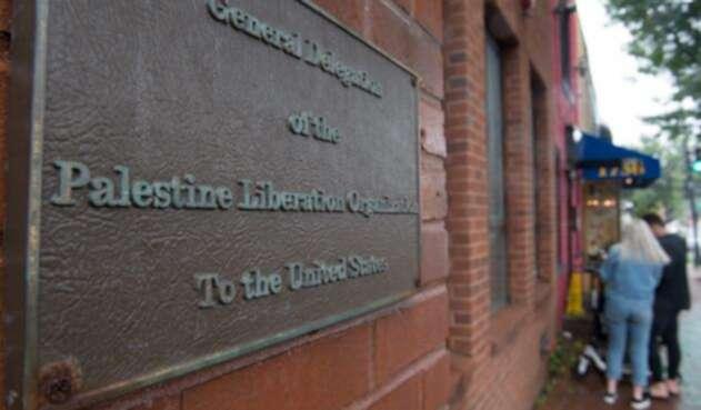 La sede en Washington de la Organización para la Liberación de Palestina (OLP)