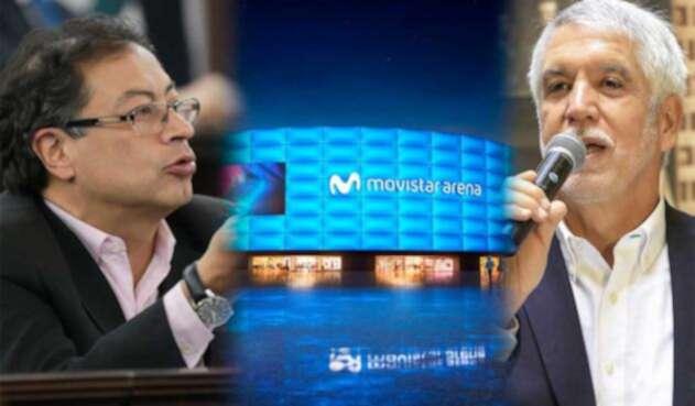 Gustavo Petro pelea por los créditos por el Movistar Arena