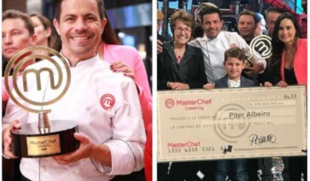 Piter Albeiro ganó MasterChef Celebrity
