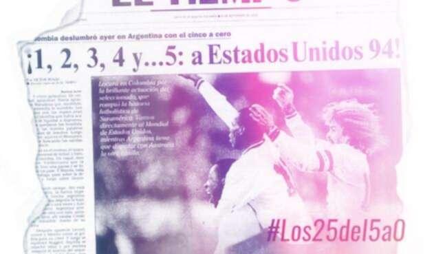 Los principales periódicos destacaron la euforia tras el 5-0 de Colombia ante Argentina