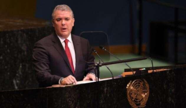 Presidente Iván Duque Márquez en la ONU