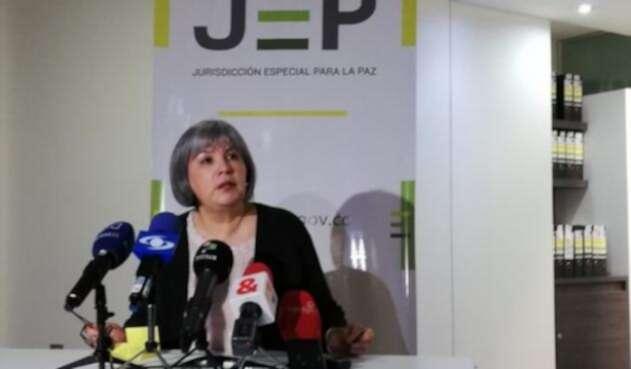 Presidenta de la JEP, Patricia Linares