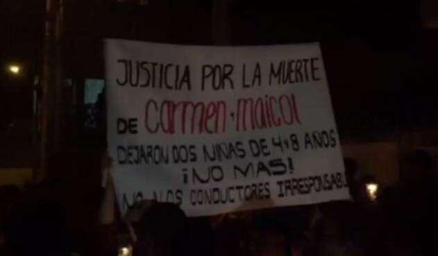 Protesta en Chía por muerte de dos motociclistas