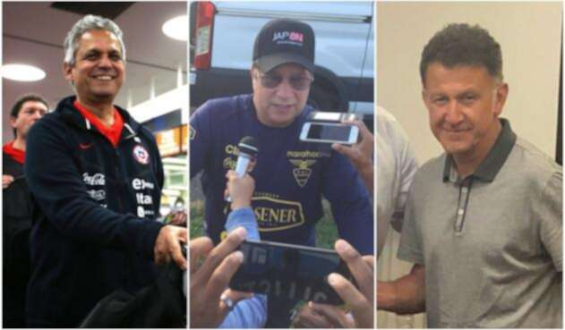 Reinaldo Rueda, 'Bolillo' Gómez y Juan Carlos Osorio