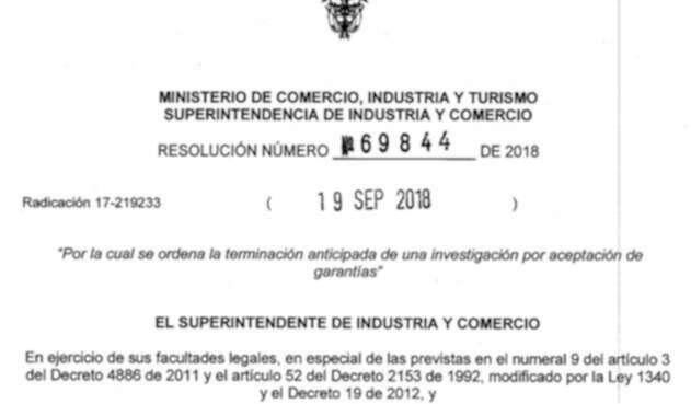 El documento de la Superintendencia de Industria y Comercio en el caso Postobón