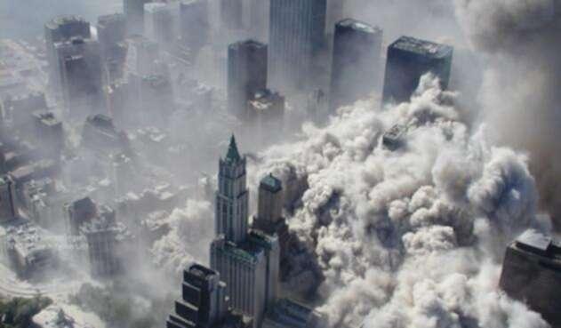 Imagen aérea de los atentados del 11 de septiembre