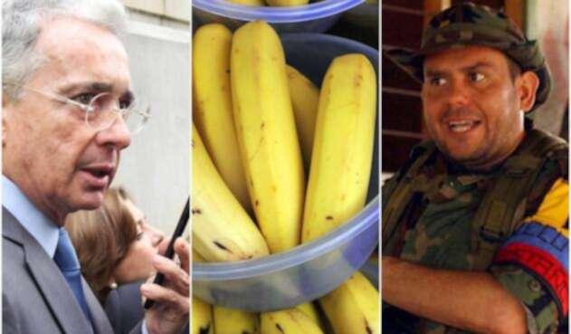 El expresidente Álvaro Uribe y Carlos Castaño, desaparecido líder paramilitar