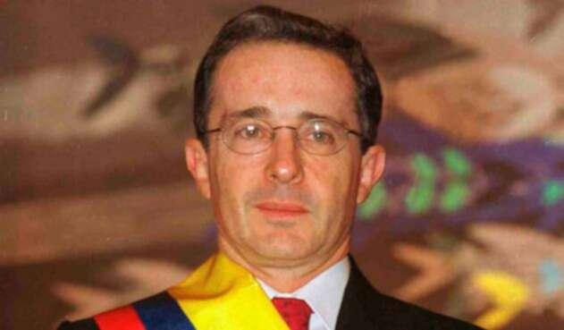 Álvaro Uribe Vélez cuando fue presidente de Colombia, entre 2002 y 2010